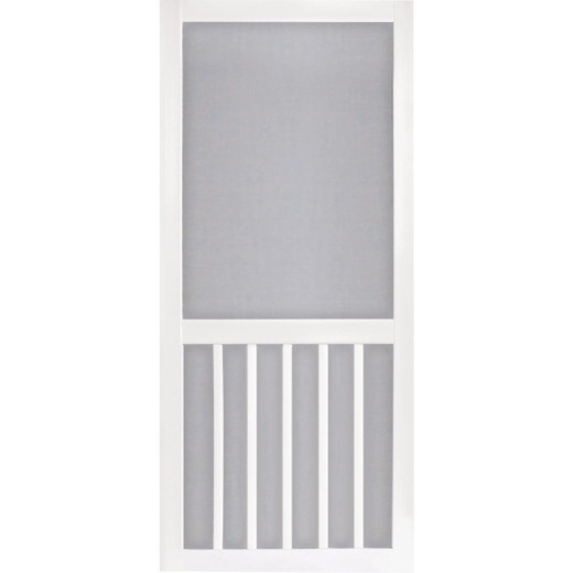 Screen Tight 5-Bar 32 In. W x 80 In. H x 1 In. Thick White Vinyl Screen Door