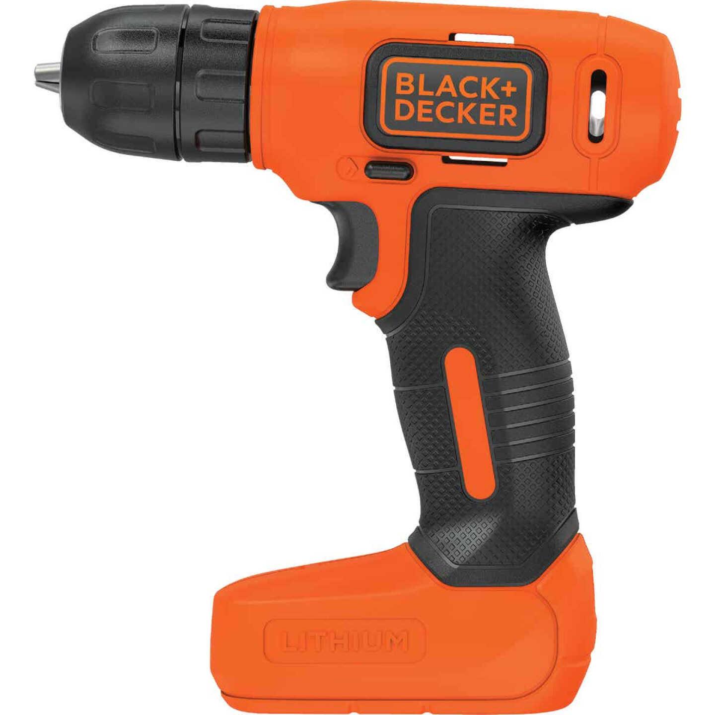 Black & Decker 8 Volt Lithium-Ion 3/8 In. Cordless Drill Kit Image 5