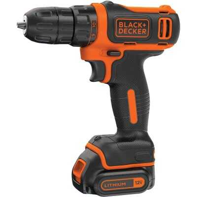 Black & Decker 12 Volt MAX Lithium-Ion 3/8 In. Cordless Drill Kit