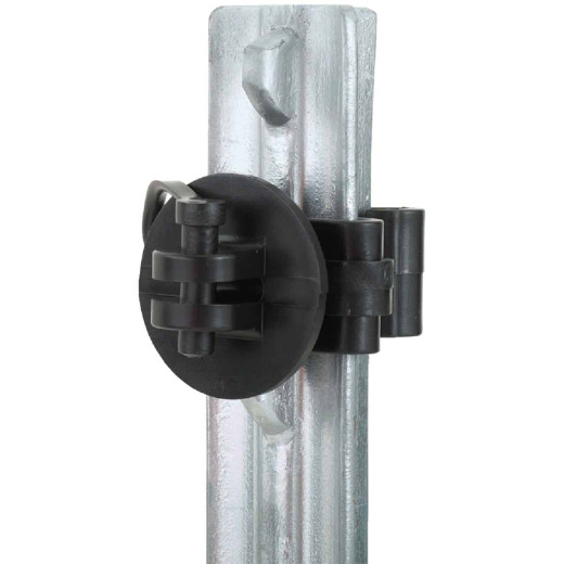 Dare Snap-On Black Polyethylene Electric Fence Insulator (25-Pack)