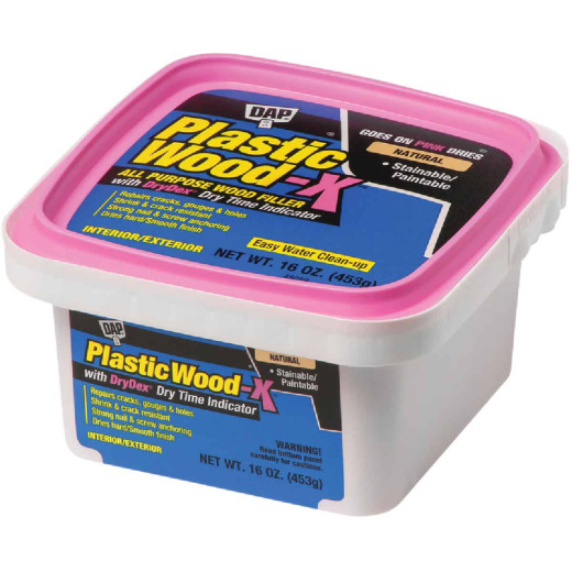 Dap Plastic Wood-X 16 Oz. All Purpose Wood Filler with DryDex Dry Time Indicator