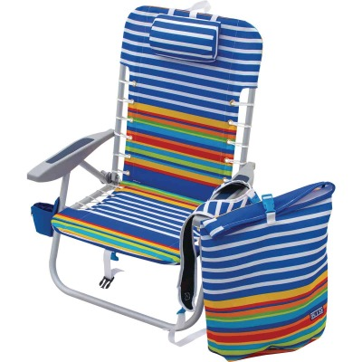 Rio Brands Blue Polyester Lace-Up Backpack Folding Chair